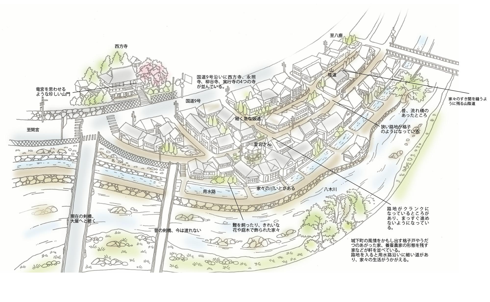 八木城下を歩く<養父市八鹿町八木>(Vol.50/2004年4月発行)