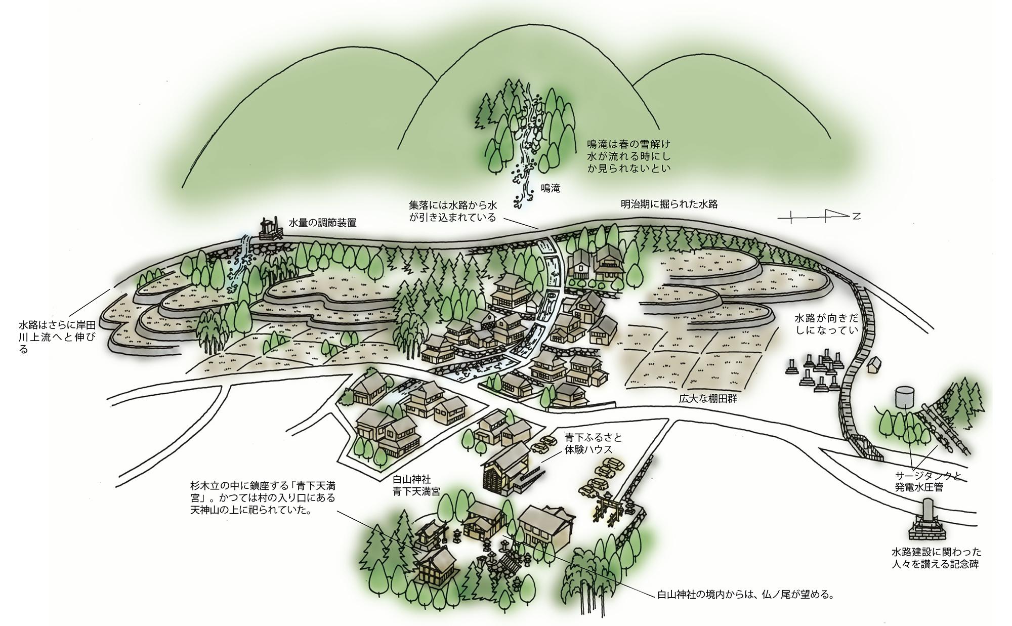 明治の水路をたどる<新温泉町青下>(Vol.63/2007年7月発行)